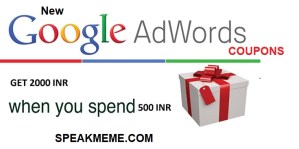 New Google Adwords Coupon For India Year 2018 [Spend 500 INR get 2000 INR]