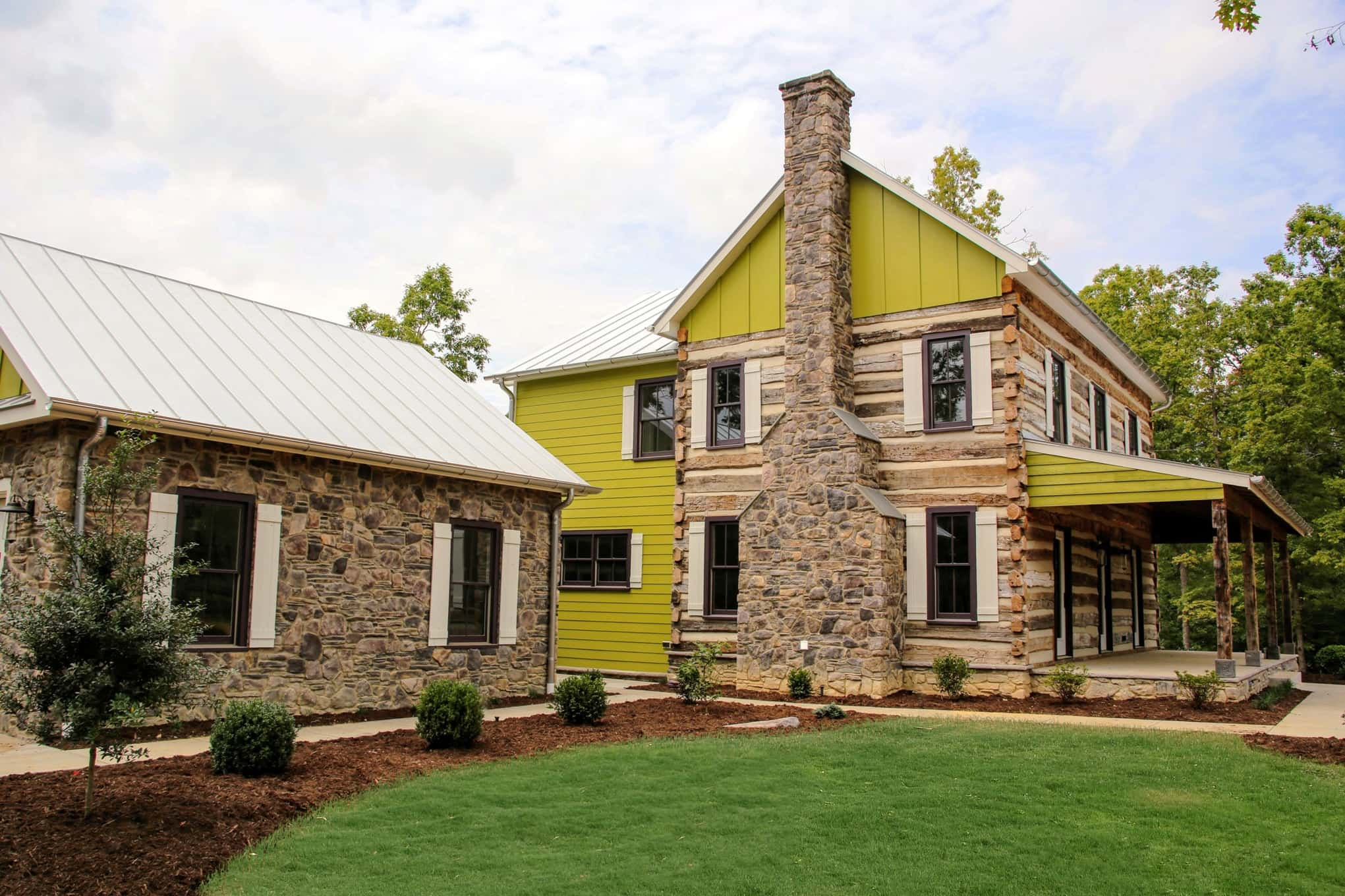 Vintage log cabin for sale in charlottesville virginia for Victorian home construction