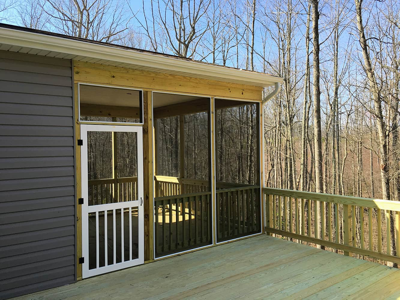 Screened in Porch in Candlewood Subdivision