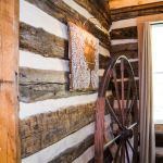 log-cabin-spinning-yarn-wheel