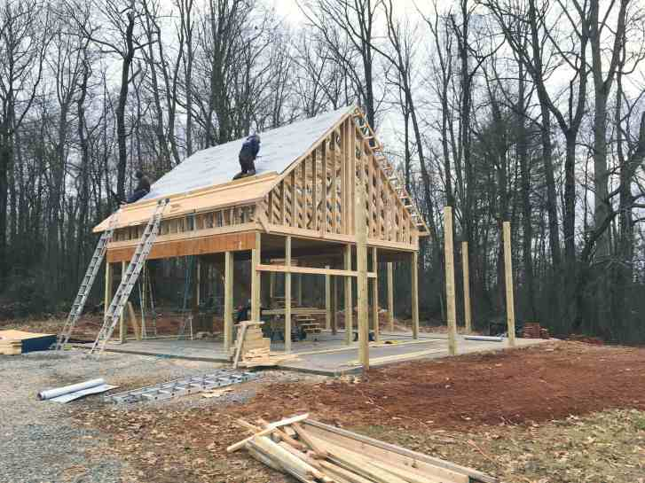 Roofing Installation On Pole Barn