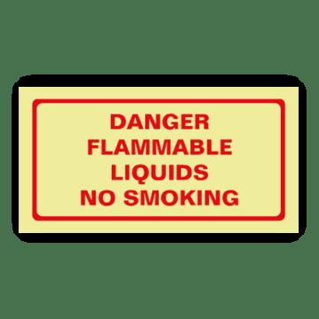 danger flammable liquids smoking safety sign