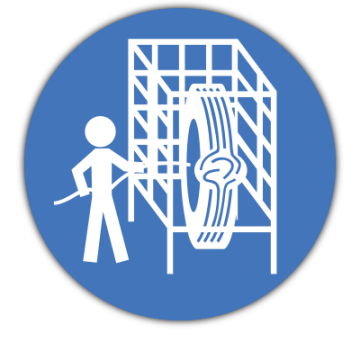 Safety Cage sign