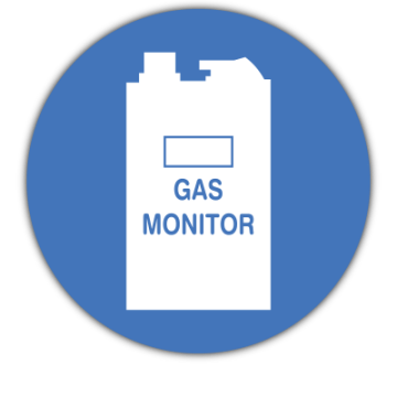 Carbon Monoxide Gas Monitor safety sign