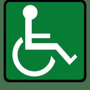 wheelchair safety sign