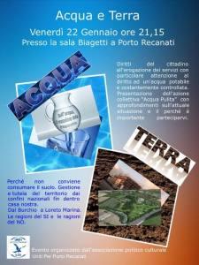 """Iniziativa pubblica """"Acqua e Terra"""""""