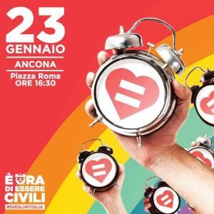 """""""È ora di essere civili"""", 23 gennaio Ancona Piazza Roma, ore 16:30"""