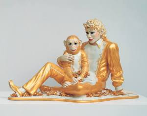 Michael Jackson and Bubbles (Jeff Koons 1988)