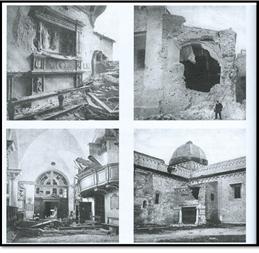 Duomo di San Ciriaco in seguito al bombardamento austroungarico