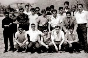 Rimini giugno 1964 - Emilio, ultimo a dx, con l'Adriatica, prossima alla conquista del titolo di campione d'Italia.