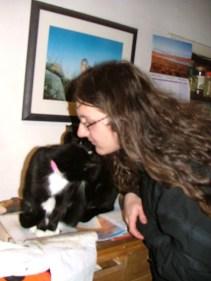 Badger loves kisses