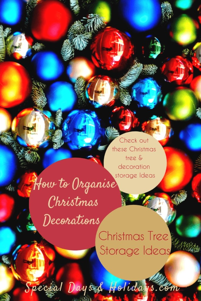 Christmas Tree Storage Ideas - How to Organise Christmas Decorations