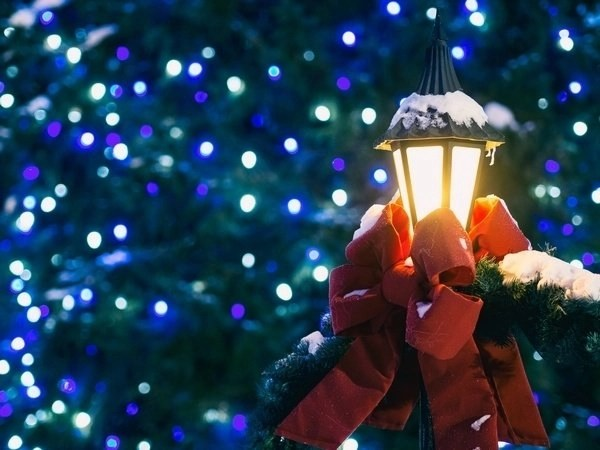 Christmas Preparations – Outside decorations of lovely blue lights
