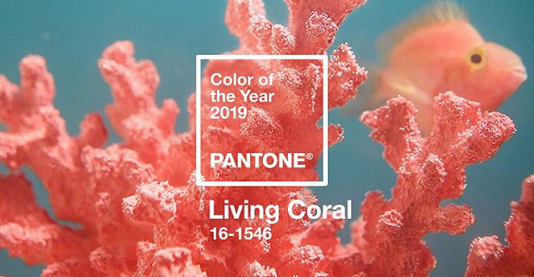 Living coral - pantone colour of the year 2019