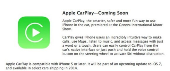 Apple CarPlay bientôt disponible