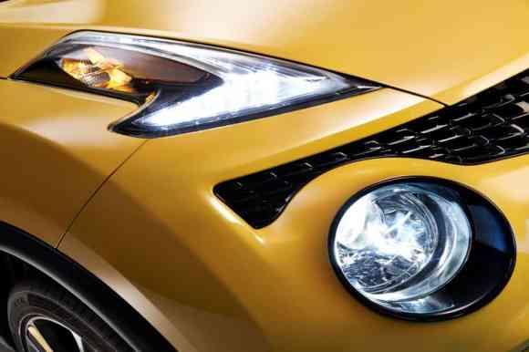 Les nouveaux optiques en forme boomerang du Nissan Juke