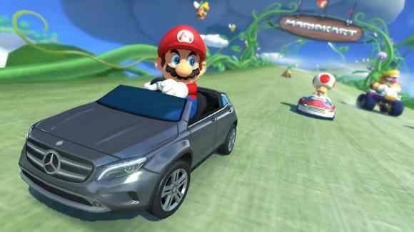 Mario au volant du kart Mercedes GLA !