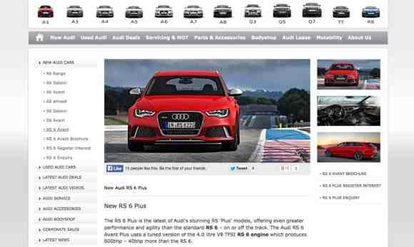 La description parle d'elle-même : Audi RS6 Avant Plus de 600 chevaux !
