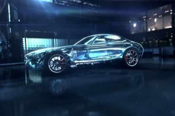 La Mercedes GT AMG en image de synthèse