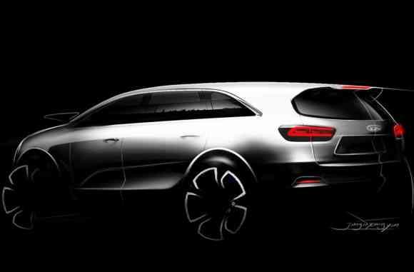Esthétiquement, la 3ème génération de Kia Sorento s'annonce plus sportive