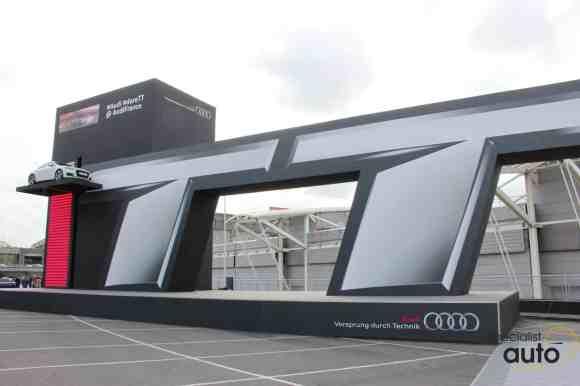 L'attraction du salon, elle mettait en scène une Audi TT Coupé