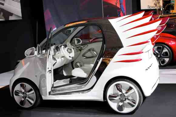 """La Smart ForTwo """"ForJeremy"""", un concept que vous avez croisé durant votre visite au Hall 8 du Mondial"""