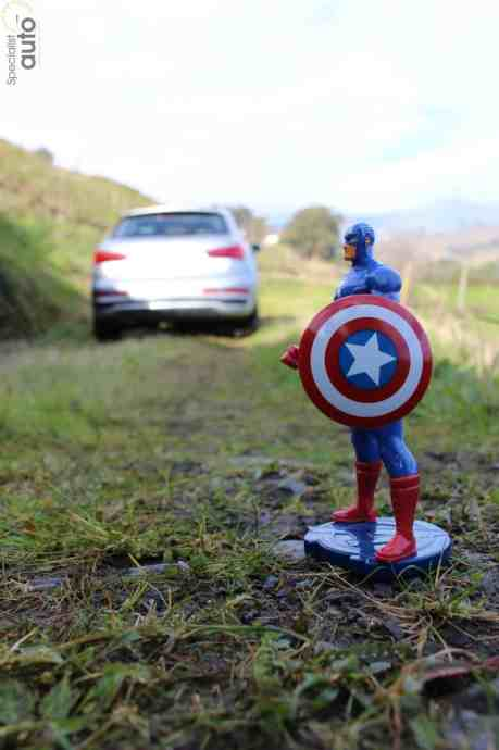 Captain America se réjouit d'essayer cet Audi Q3 Facelift