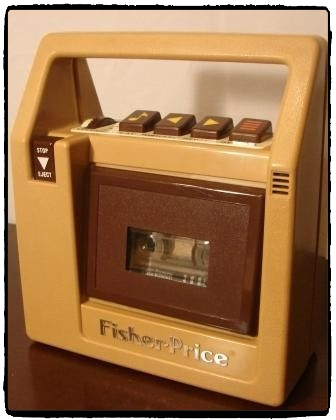 Original vintage Fisher Price cassette player. Discover 5 vintage toys and their modern-day equivalents!