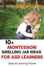 Montessori inspired scent jars