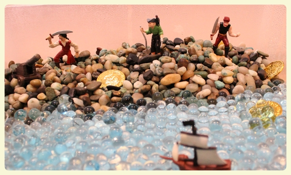 Pirate sensory bin & small world play. Featured by Special Learning House. www.speciallearninghouse.com.jpg