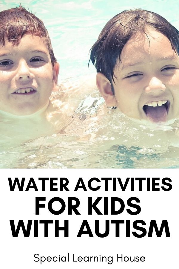 water activities for kids with autism - 2 boys in the water