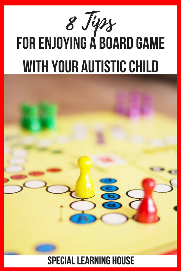 8 Tips for enjoying a board game with your autistic child #autism #spd #adhd