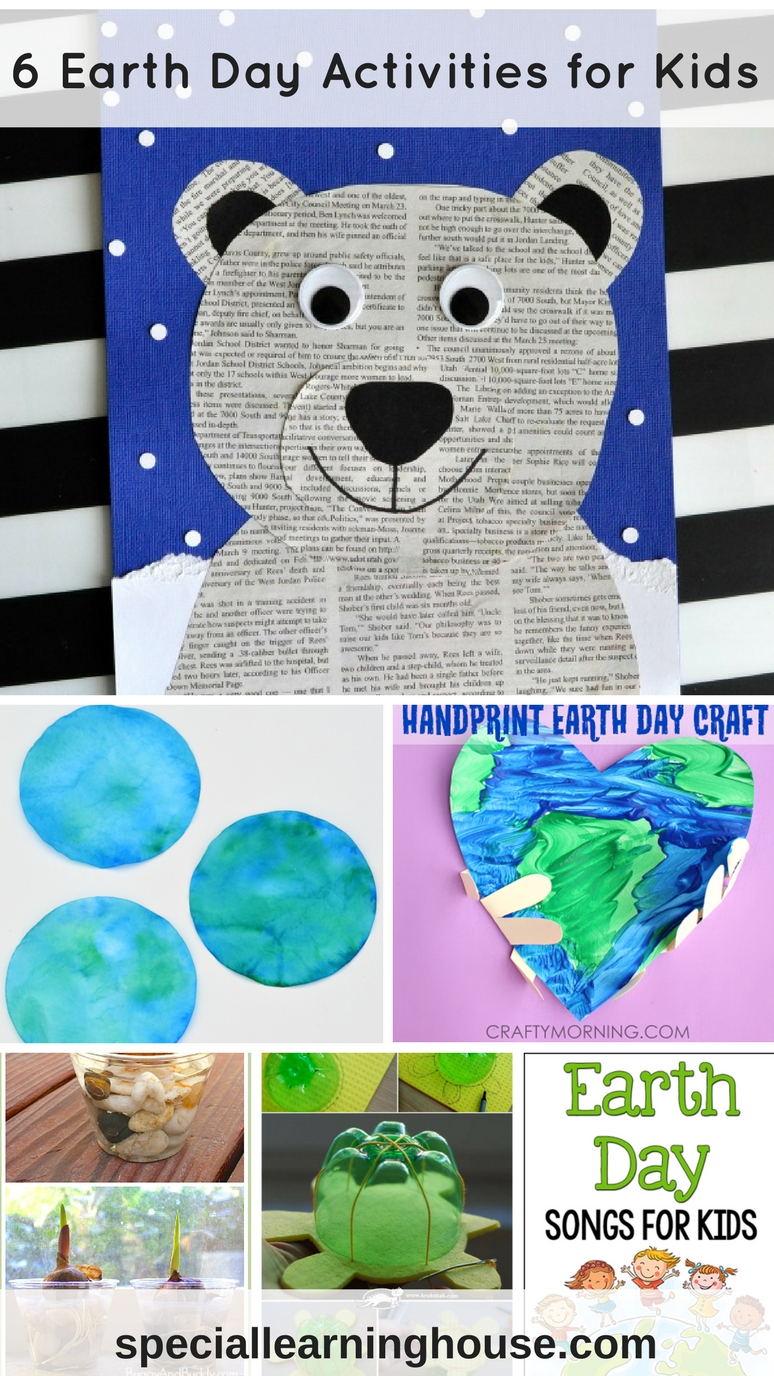 Earth Day Activities for Kids. Adapted for special needs kids too! | speciallearninghouse.com