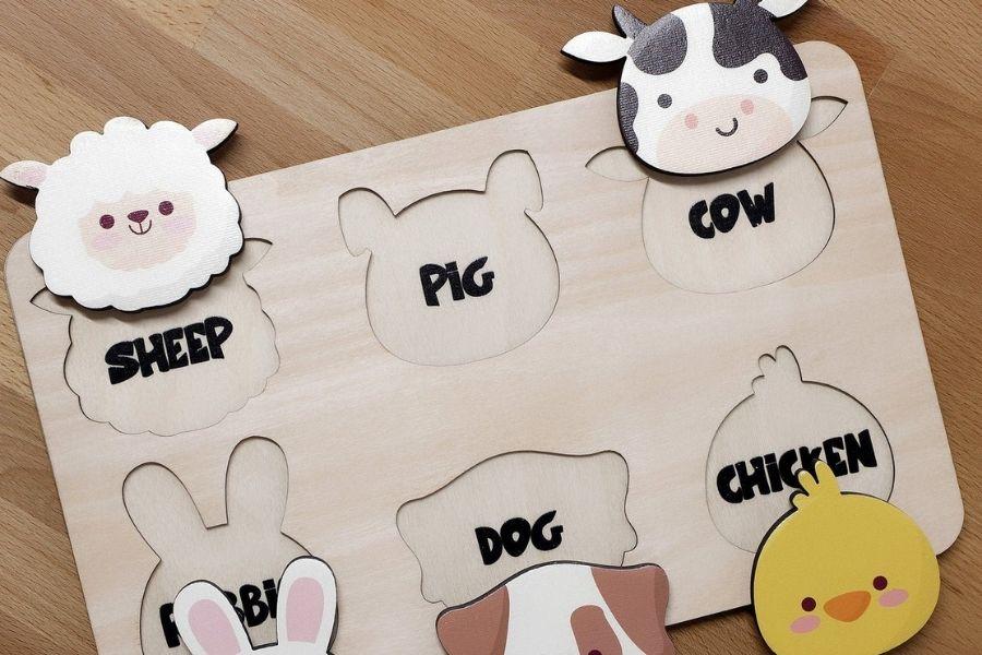Puzzles for Autism - Farm Animals