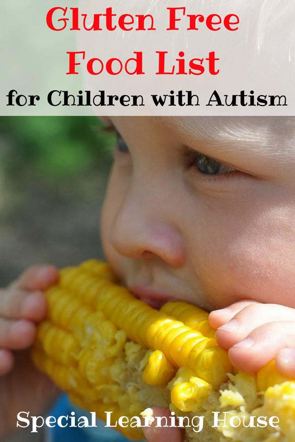 Gluten Free Food List for Children with Autism