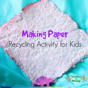 Making Paper Recycling Activity for Kids #autism #autismawareness #speciallearninghouse #earthday #finemotor