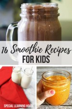 16 Smoothie recipes for kids #pickyeaters #kidssmoothies