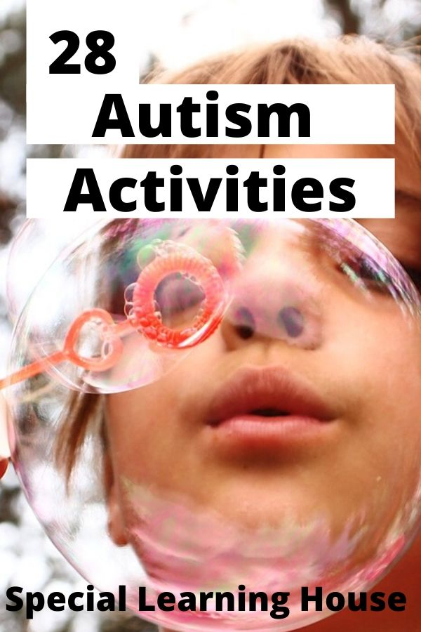 girl blowing bubbles - one of the best autism activities