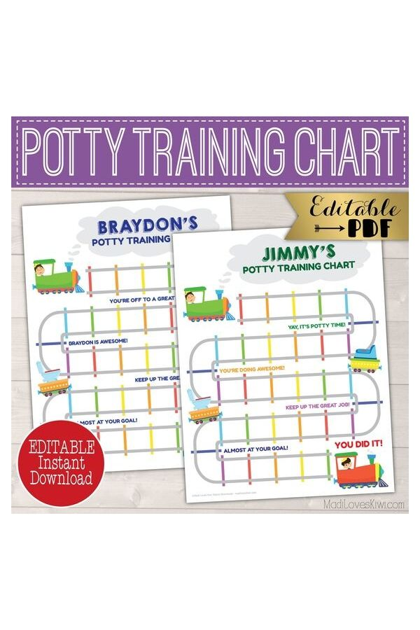 autism worksheets - potty training chart