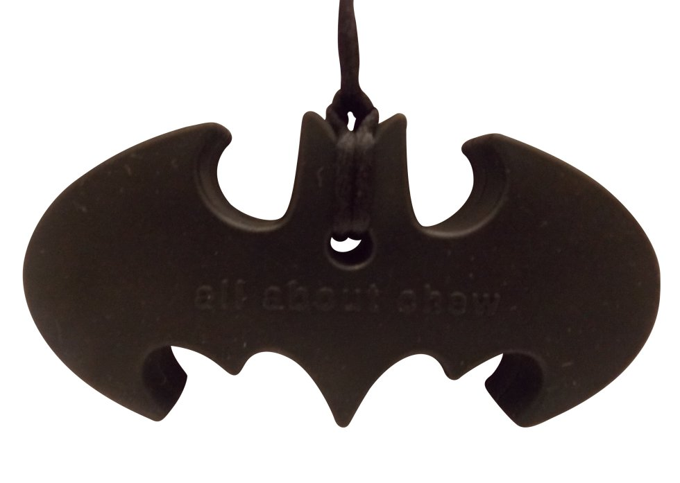 Bat chew toy necklace for kids with autism