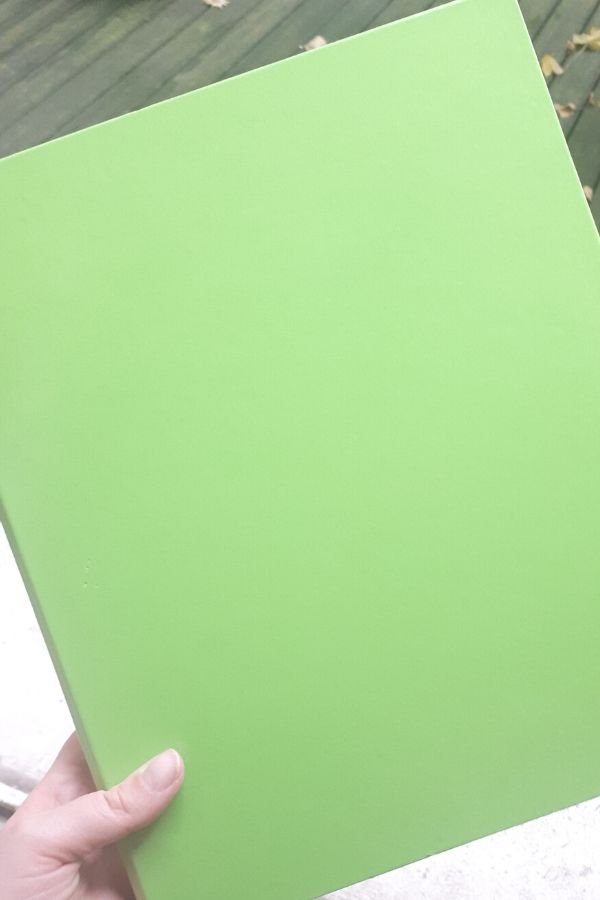 green A4 communication binder for kids with autism