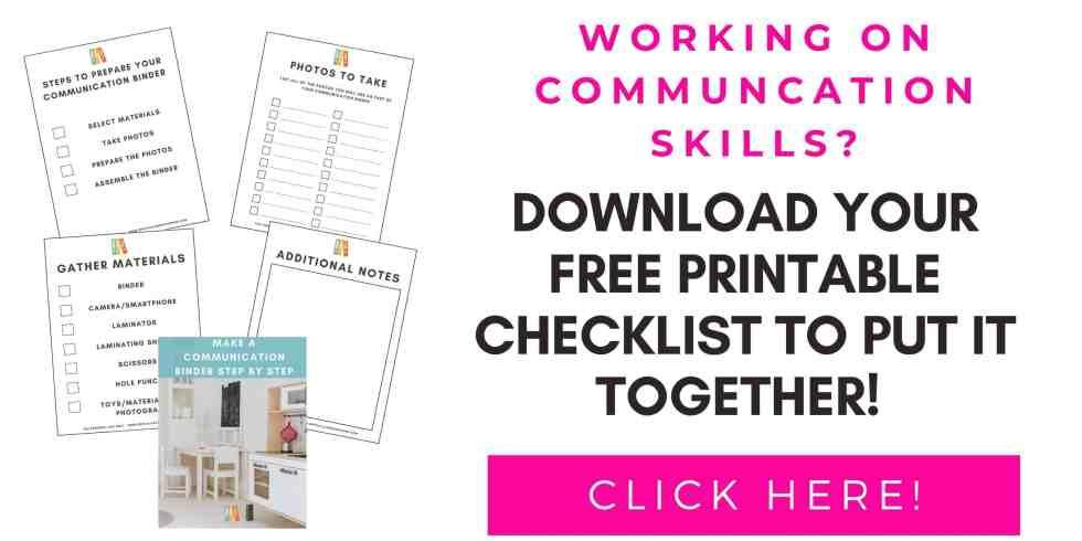 Communication Binder Checklist