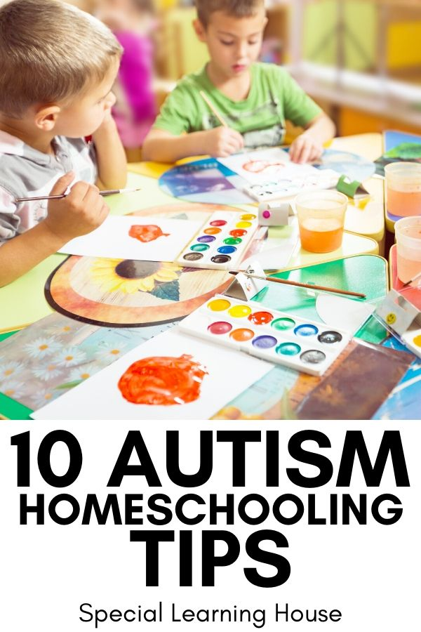 10 Autism Homeschooling Tips Cover