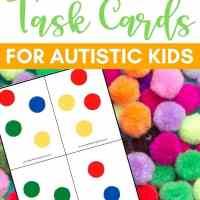 Free Printable Color Matching Pompom Task Cards