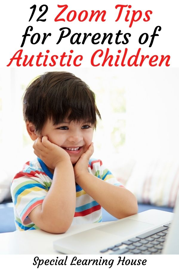 a child at the computer - 12 zoom tips for parents of autistic children
