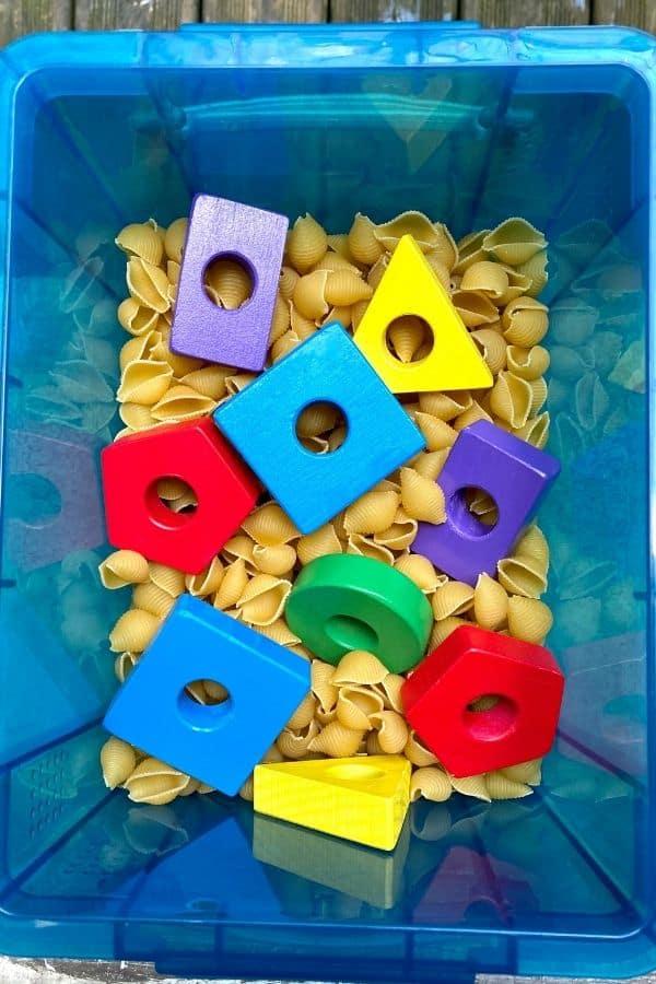 shape sensory bin