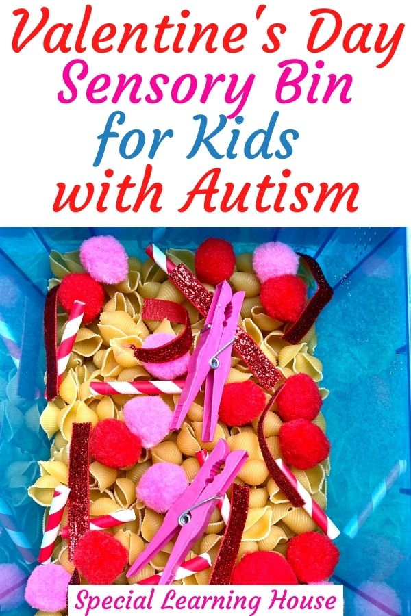 Valentine's Day Sensory Bin for Kids with Autism