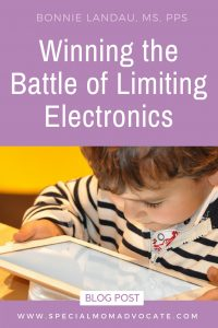 Winning the battle of limiting electronics with kids.