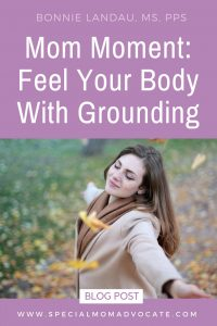Feel your body with grounding