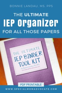The Ultimate IEP Binder Tool Kit | IEP Organizer